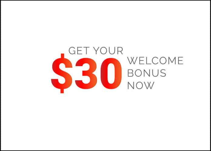 $30 Welcome Account bonus