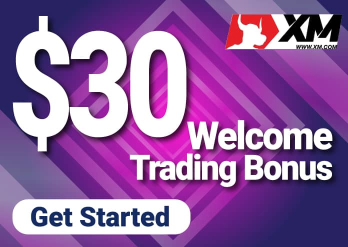 $30 Welcome Trading Bonus on XM Group