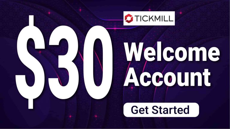 $30 USD TickMill Special Welcome Account