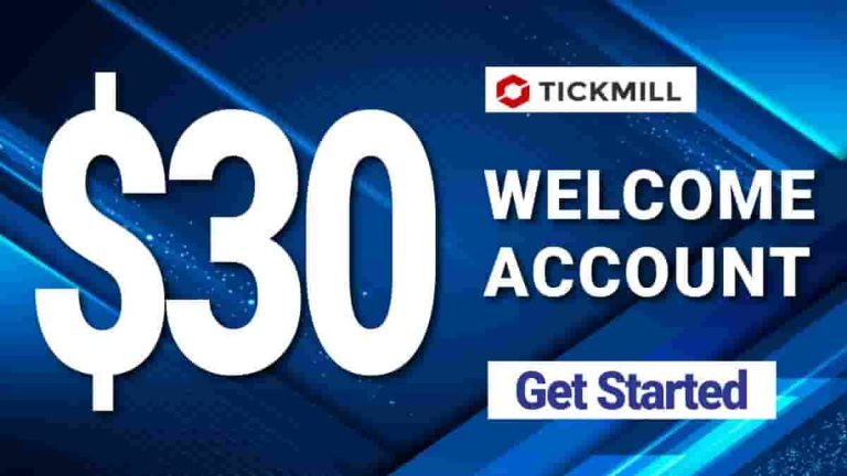 $30 Welcome Account Offer by TickMill