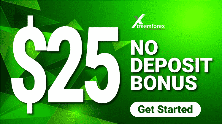 XtreamForex $25 no deposit forex bonus for new clients.