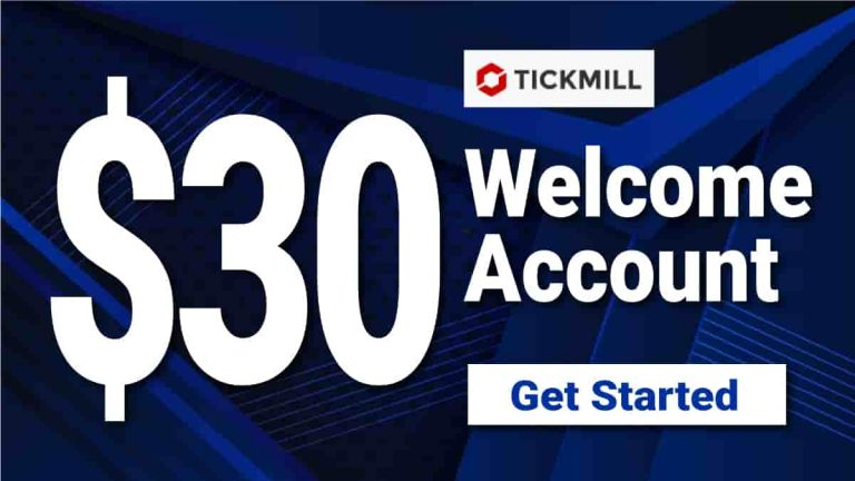 $30 Welcome Account Bonus by TickMill