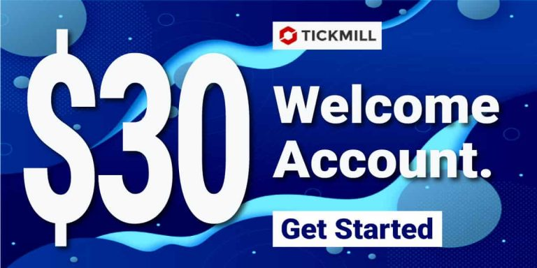 TickMill Welcome Account $30 Bonus – 2021