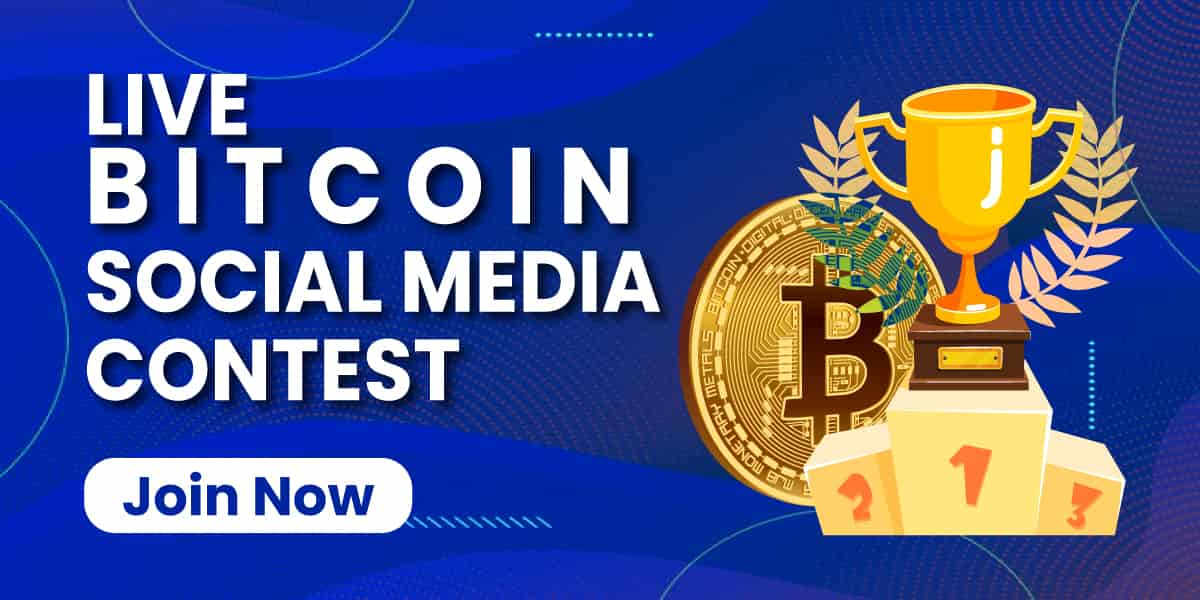 Live Bitcoin (BTC) Social Media Contest