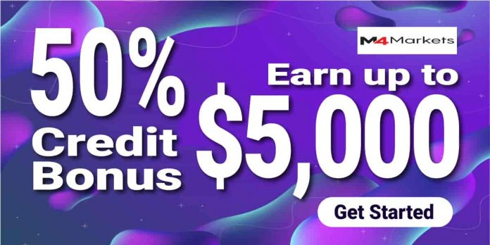 50% Credit Bonus By M4Markets